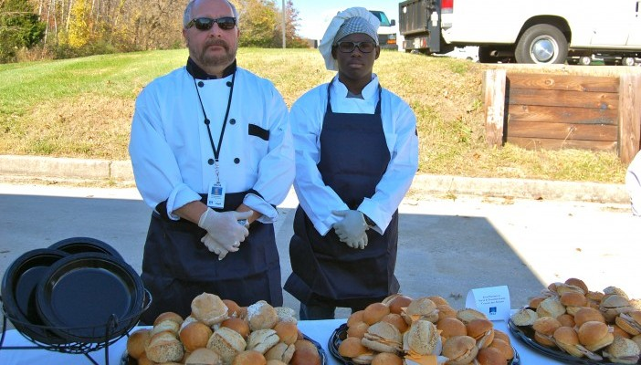 The Culinary Arts Team prepares food for catered events