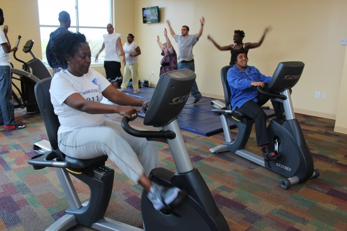 The Fitness Center is constantly busy with exercise classes